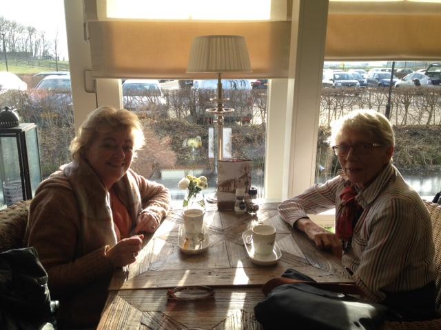 Wandelen in de polder en daarna en kopje koffie in brasserie 10.